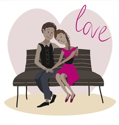 Love story one vector