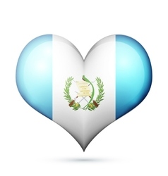 Guatemala heart flag icon vector