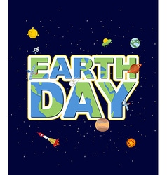 Earth day emblem logo for holidays of earth vector