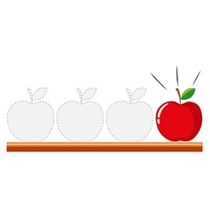 Tracing design with apples vector