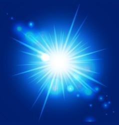 abstract blue sunburst vector image