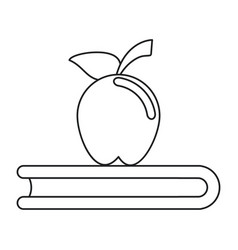 apple book school symbol thin line vector image vector image