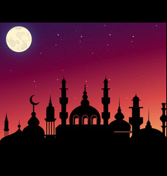 beautiful silhouette arabic vector image
