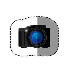 Black camera icon image vector