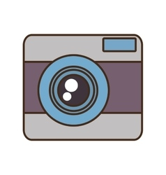 Cartoon photo camera picture vacation travel vector