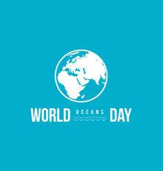 Celebration world ocean day background vector