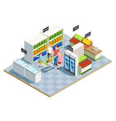 Convenient shop family composition vector