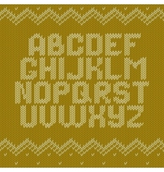 Crochet font knitted ornament vector image