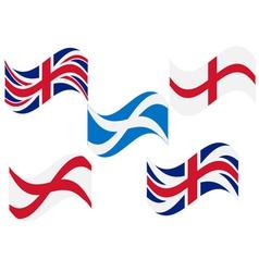 Flag england scotland vector