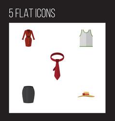 flat dress set of elegant headgear cravat vector image vector image