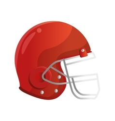 football american helmet icon vector image