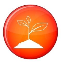 Growing plant icon flat style vector image vector image