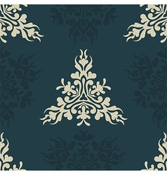 Heraldic seamless floral pattern vector