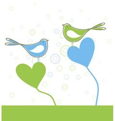 love of birds vector image vector image