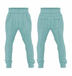 Mens blue sweatpants vector