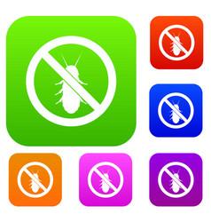 No termite sign set collection vector