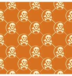 Orange Skull Pattern vector image vector image