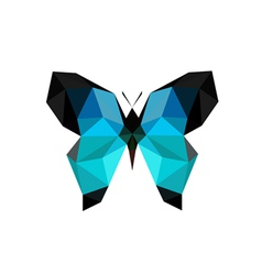 origami blue butterfly vector image vector image