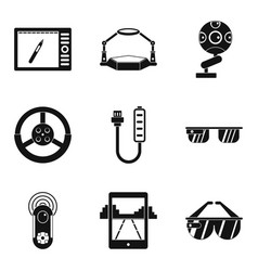 regulation icons set simple style vector image