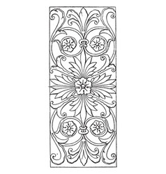 Renaissance oblong panel is a design found on vector