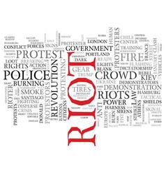 Riot word cloud concept vector