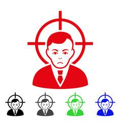 Sad victim businessman icon vector