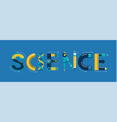 Science banner typography and background vector