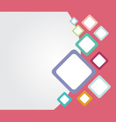 Template colorful rounded rectangle backgrounds vector