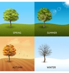 Tree concept set vector image vector image