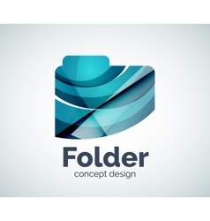 Computer folder logo template vector