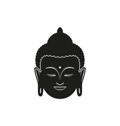 beautiful buddha face vector image