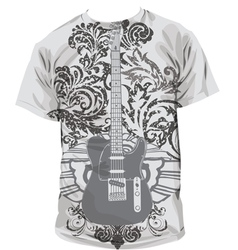 Guitar T-shirt vector image