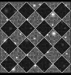 Silver and black seamless chess styled vintage vector