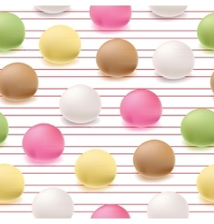 Seamless pattern japanese mochi rice dessert vector