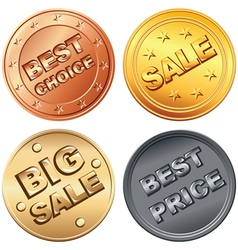 Coin price tags vector