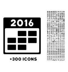 2016 month organizer icon vector