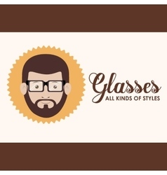 Kinds and styles of glasses design vector