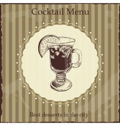 Cocktail menu cover template vector