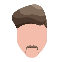 Modern mens hairstyle icon cartoon style vector