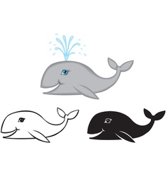 whale set vector image