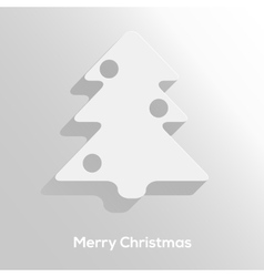 Abstract paper cut christmas tree with long shadow vector image vector image