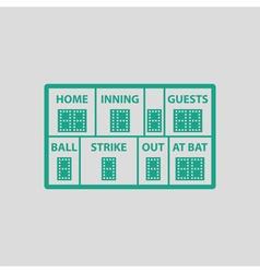Baseball scoreboard icon vector