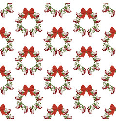 berry wreath pattern vector image vector image