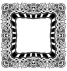 Black frame with ornamental border vector image vector image