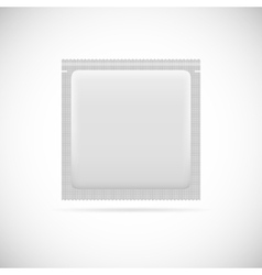 Blank foil packaging vector image