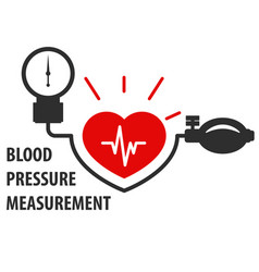 Blood pressure measurement icon - heart care vector