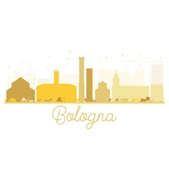 Bologna City skyline golden silhouette vector image