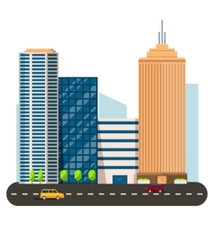 business smart city life concept Capital vector image vector image