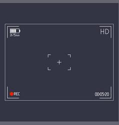 camera viewfinder editable stroke vector image