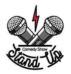 Color vintage stand up comedy show emblem vector